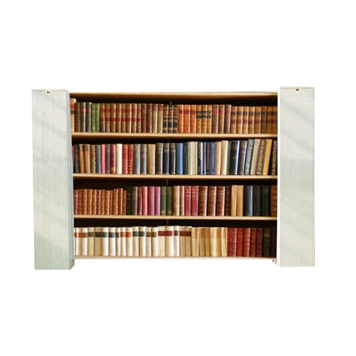 Afscheidingsdoek met oude boekenkast - Evenementdecoratie.nl